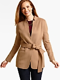 Belted Double-Face Jacket