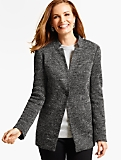 Tweed Knit Blazer