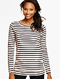 Striped Long-Sleeve Pullover