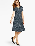 Tweed Fit-and-Flare Dress