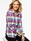 The Classic Casual Shirt-Pastel Plaid