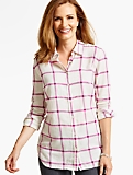 The Longer Casual Shirt - Windowpane Plaid