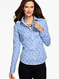 The Perfect Long-Sleeve Shirt - Geo Diamonds
