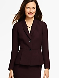 Refined Crepe Pleated Peplum Jacket