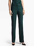 Luxe Wool Piqu� Tailored Trouser