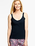 Lace-Trimmed Knit Tank