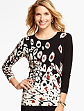 Abstract Animal-Print Sweater