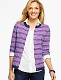 Geo & Stripes Fair Isle Cardigan