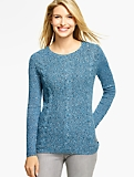Classic Crewneck Sweater - Mixed-Stitch Marled