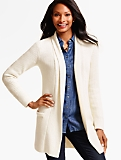 Ribbed No-Close Cardigan