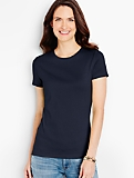 Pima Cotton Short-Sleeve Crewneck Tee