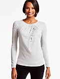 Ruched-Twist Crepe Top