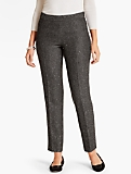 Sequin Tweed Tailored Ankle Pant-Curvy