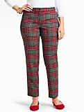 Bonfire Plaid Tailored Ankle Pant-Curvy