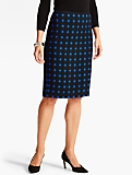 Double-Dot Pencil Skirt