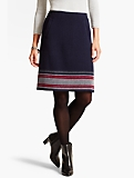 Stripe-Border A-Line Skirt