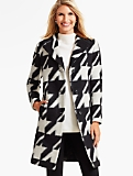 Brushed Bold Houndstooth Coat