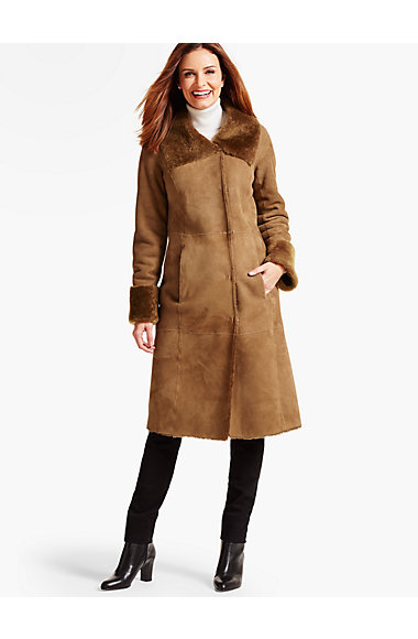 Long Shearling Coat | Talbots