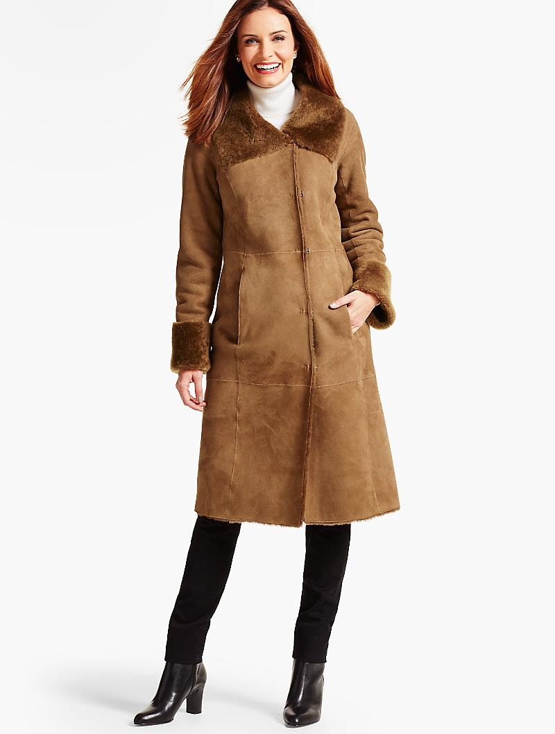 Long Shearling Coat - Talbots