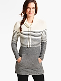 Stripe-Blocked Tunic Top