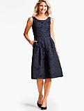 Loire Jacquard Fit-and-Flare Dress