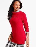 Split-Neck Pullover Sweater