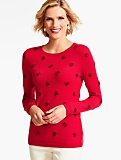 Tinsel Polka-Dot Sweater