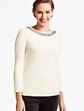Beaded-Bateau Sweater