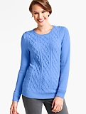 Shoulder-Button Aran Sweater