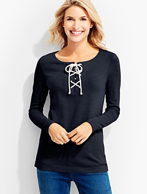 Lace-Up Front Tee
