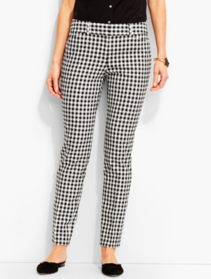 Women's 1960s Style Pants Talbots Womens Talbots Hampshire Ankle Pant Gingham $89.99 AT vintagedancer.com