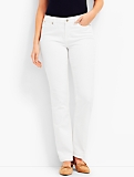 Flawless Five-Pocket Straight Leg - Curvy /Talbots White