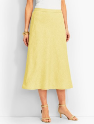 1930s Style Skirts : Midi Skirts, Tea Length, Pleated Talbots Womens Classic Linen Maxi Skirt $49.99 AT vintagedancer.com