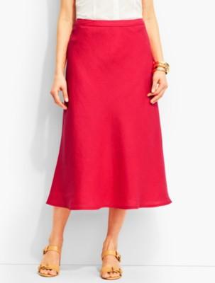 Tea Length 1930s Style Skirts for Sale Talbots Womens Classic Linen Maxi Skirt $89.99 AT vintagedancer.com