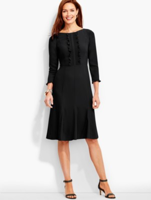 1940s Style Dresses and Clothing Talbots Womens Soft Crepe Fit and Flare Dress $94.99 AT vintagedancer.com