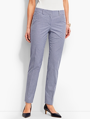 Tailored Gingham Ankle Pant