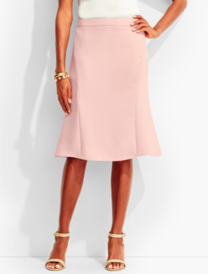 1920s Skirts, Gatsby Skirts, Vintage Pleated Skirts Talbots Womens Refined Crepe Flounced Skirt $79.99 AT vintagedancer.com