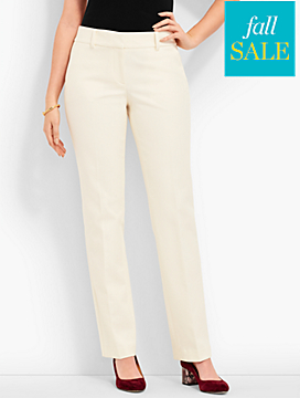 Polished Twill Straight-Leg Pant - Curvy Fit