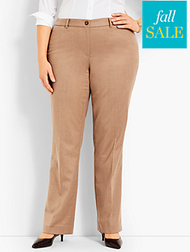 Talbots Windsor Wide-Leg Pant - Flannel