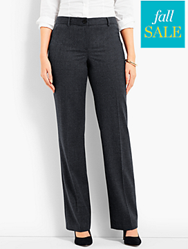 Talbots Windsor Wide-Leg Pant - Curvy Fit/Flannel