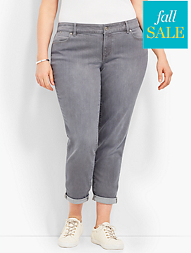 Denim Boyfriend Ankle-Earl Grey