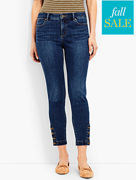 Four-Button Denim Slim Ankle-Georgia Wash