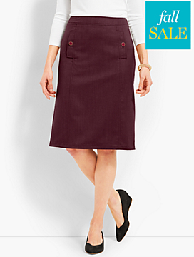 Flannel A-Line Skirt