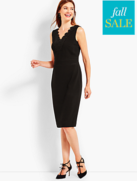 Lace-Trim Sheath