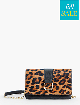 Horsebit Crossbody Bag-Leopard-Print