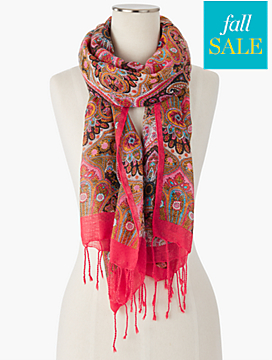Fringed Aristocracy Paisley Scarf