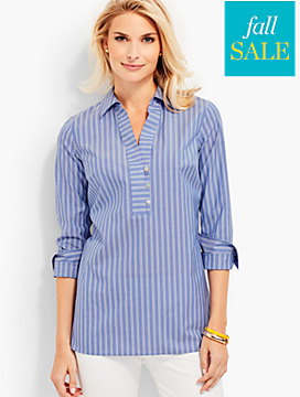 The Perfect Wrinkle-Resistant Popover Shirt - Stripes