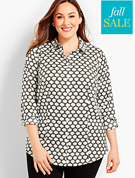 Womans Exclusive The Longer-Length Long-Sleeve Shirt - Lattice