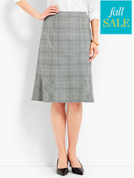 Luxe Glen Plaid Skirt