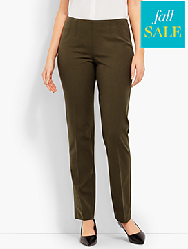 Refined Bi-Stretch Side-Zip Straight-Leg - Curvy Fit